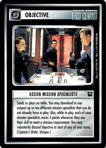 Assign Mission Specialists