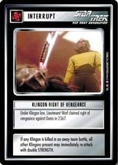 Klingon Right of Vengeance