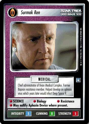 Star Trek CCG DS9 Deep Space 9 Surmak Ren