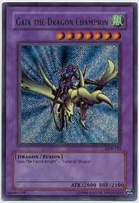 Gaia the Dragon Champion - LOB-125 - Secret/Ultra Rare - Unlimited Edition