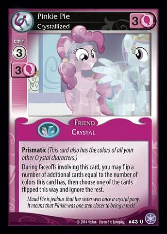 MY LITTLE PONY 1ST SR CHARACTER FOIL TRADING CARD-CHOOSE 1 CARD