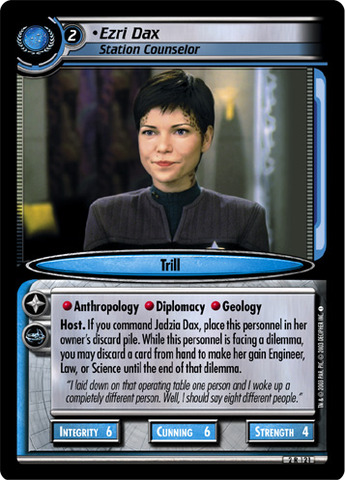Ezri Dax, Station Counselor