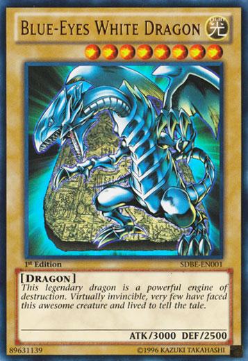 Blue-Eyes White Dragon - SDBE-EN001 - Ultra Rare - Unlimited Edition