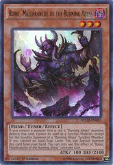 Rubic, Malebranche of the Burning Abyss - NECH-EN082 - Ultra Rare - Unlimited Edition