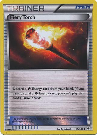 Fiery Torch 89/106 Sheen Holo Promo - Pyroar Box Exclusive