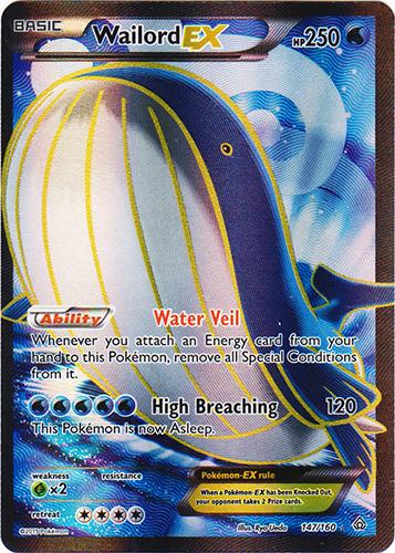 Wailord-EX - 147/160 - Full Art