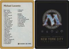 1996 Michael Loconto Decklist Card