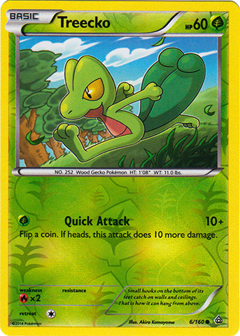 Treecko - 6/160 - Common - Reverse Holo