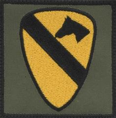 1st Cavalry Division Patch (for Army Kit Bag)