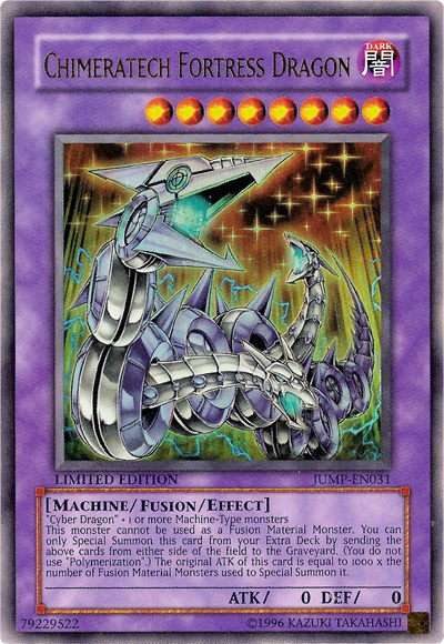 Chimeratech Fortress Dragon - JUMP-EN031 - Ultra Rare - Limited Edition