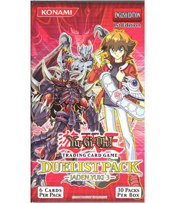 Yugioh Duelist Pack Jaden Yuki 2 1st edition Booster Pack 6 cards RARE!