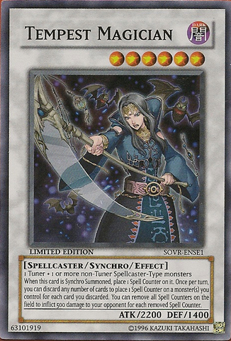 Tempest Magician - SOVR-ENSE1 - Super Rare - Limited Edition
