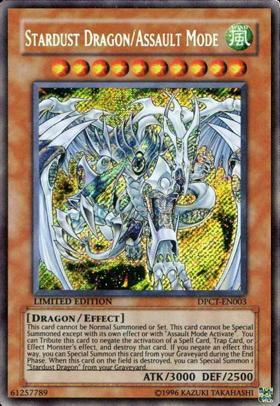 Stardust Dragon/Assault Mode - DPCT-EN003 - Ultra Rare - Limited Edition - Promo