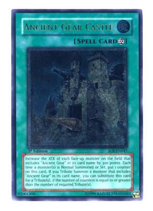 Ancient Gear Castle - SOI-EN047 - Ultimate Rare - 1st Edition