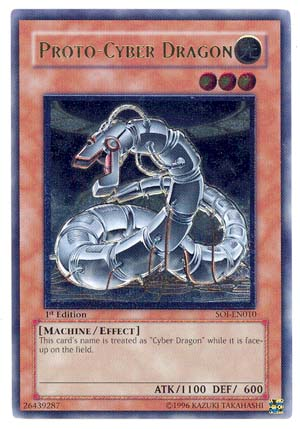 Proto-Cyber Dragon - SOI-EN010 - Ultimate Rare - 1st Edition