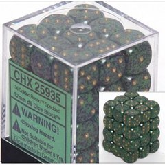 36 Golden Recon Speckled 12mm D6 Dice Block - CHX25935