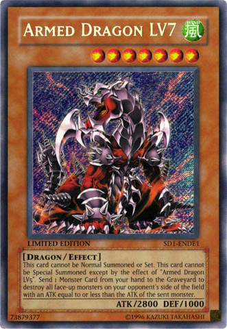 Armed Dragon LV7 - SD1-ENDE1 - Secret Rare - Limited Edition