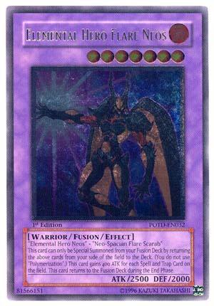 Elemental Hero Flare Neos - POTD-EN032 - Ultimate Rare - 1st Edition