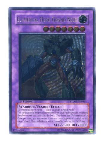 Elemental Hero Grand Neos - Ultimate - STON-EN035 - Ultimate Rare - 1st
