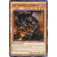 Cagna, Malebranche of the Burning Abyss - SECE-EN084 - Rare - 1st Edition on Channel Fireball