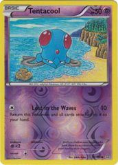 Tentacool - 70/160 - Common - Reverse Holo on Channel Fireball