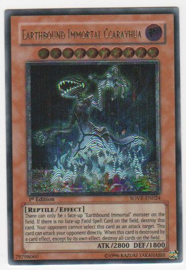 Earthbound Immortal Ccarayhua - SOVR-EN024 - Ultimate Rare - 1st Edition