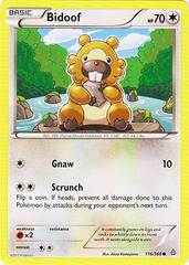 Bidoof - 116/160 - Common on Channel Fireball