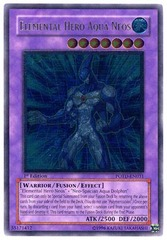 Elemental Hero Aqua Neos - Ultimate - POTD-EN031 - Ultimate Rare - 1st Edition on Channel Fireball