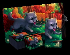 StarCityGames Wolf Accessory Set - Playmat, Card Sleeve, Dice Bag