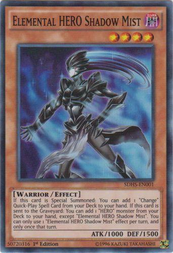 Elemental HERO Shadow Mist - SDHS-EN001 - Super Rare - 1st Edition