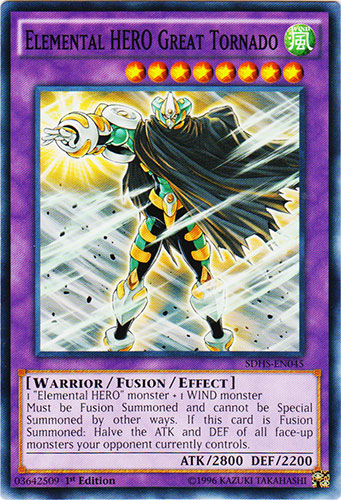 Elemental HERO Great Tornado - SDHS-EN045 - Common - 1st Edition