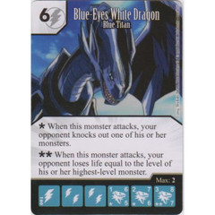 Blue-Eyes White Dragon - Blue Titan (Die & Card Combo)