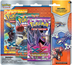 Pokemon XY5 Primal Clash 3-Booster Blister Pack - Kyogre Pin