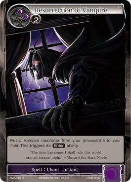 Resurrection of Vampire - CMF-089 - U - 1st Printing - Force of Will
