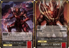 Falltgold, The Dragoon // Bahamut, The Dragon King [TAT-026 R] English Foil