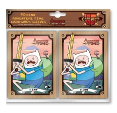 Adventure Time Card Wars Finn Card Sleeves 80 Count