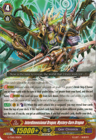Interdimensional Dragon, Mystery-flare Dragon - G-TD01-001EN - TD
