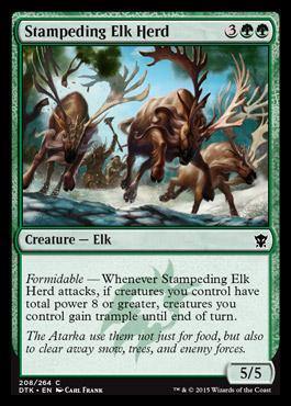 Stampeding Elk Herd - Foil