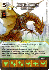 Copper Dragon - Greater Dragon (Die & Card Combo)
