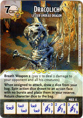 Dracolich - Lesser Undead Dragon (Die & Card Combo)