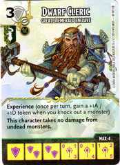 Dwarf Cleric - Greater Emerald Enclave (Die & Card Combo)