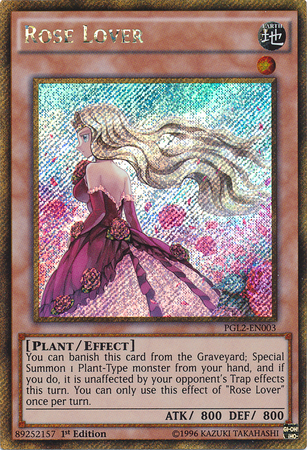 Rose Lover - PGL2-EN003 - Gold Secret Rare - 1st Edition