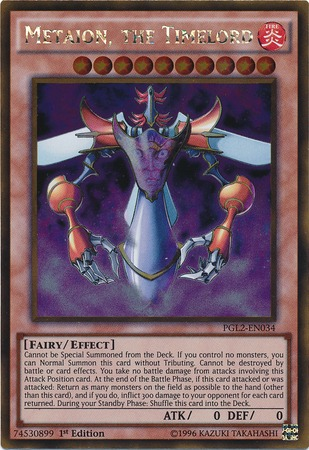 Metaion, the Timelord - PGL2-EN034 - Gold Rare - 1st Edition