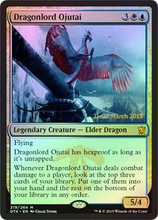 Dragonlord Ojutai - Foil - Prerelease Promo
