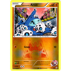 Team Magma's Aron - 12/34 - Common - Reverse Holo on Channel Fireball