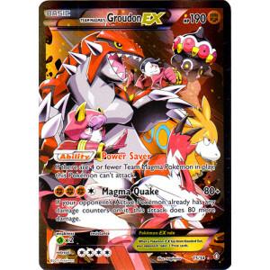 Team Magmas Groudon-EX - 15/34 - Holo Rare EX