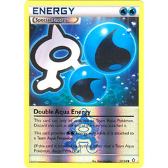 Double Aqua Energy - 33/34 - Uncommon - Reverse Holo on Channel Fireball