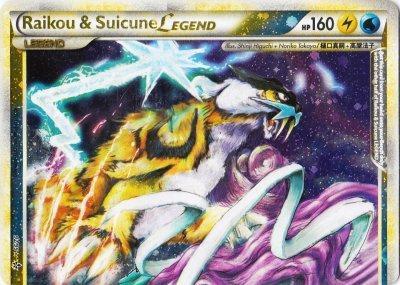 Raikou and Suicune LEGEND (Top) - 92/95 - Rare Holo Legend