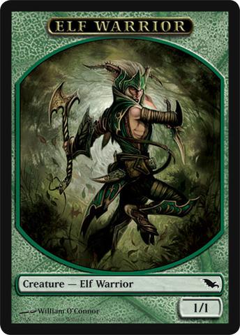 Elf Warrior Token - Green