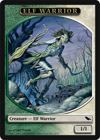 Elf Warrior Token - Green/White